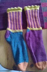 the socks I knit